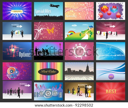 Big Banner Set Vector