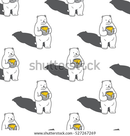 big bear honey seamless vector