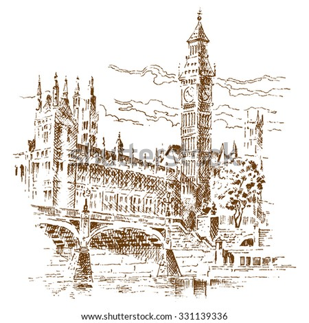 Big Ben - engraving
