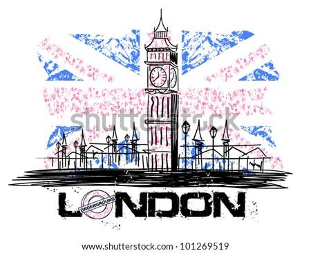 Big Ben LONDON - stock vector