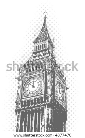 Big Ben - London - vector poster