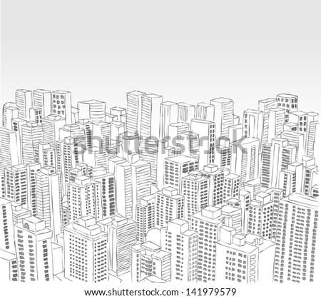 big black and white city