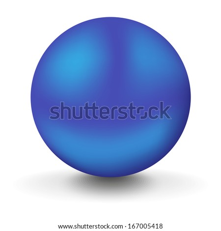 big blue ball