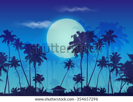 big blue moon twilight with