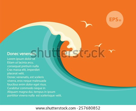big blue wavevector seascape