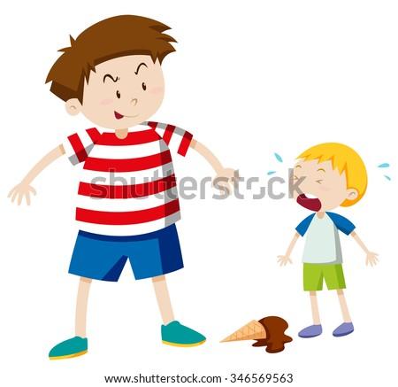 big boy bullying smaller boy