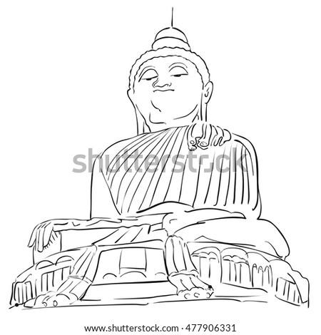big buddha phuket outline