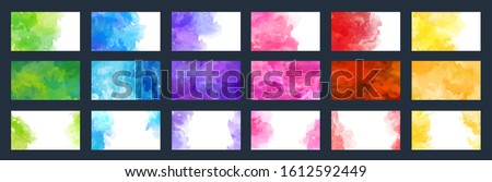 big bundle set of bright vector colorful watercolor background useful for any project where a platter of color makes the difference for poster brochure card or flyer color pink water white kid star ra
