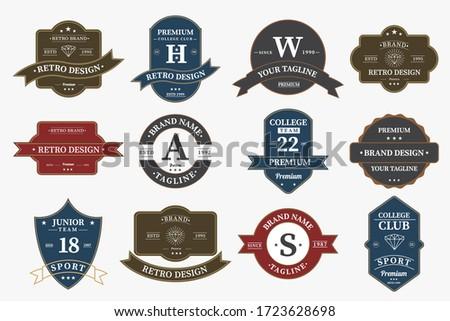Big bundle set of retro vintage badge logo design. Vector design element, with variety style element, business sign, logos, identity, labels, badges and object, vector eps 10.