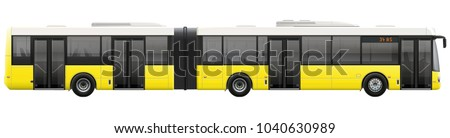big bus metro bus on isolated