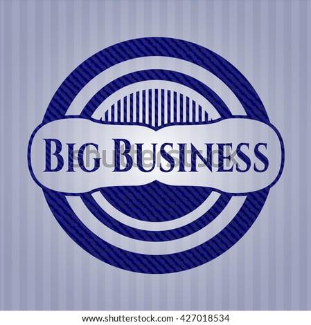 Big Business emblem with jean texture