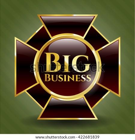 Big Business golden emblem or badge