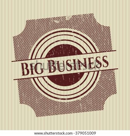 Big Business grunge seal