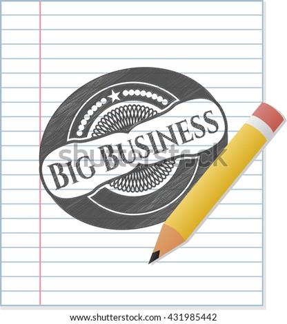 Big Business pencil emblem