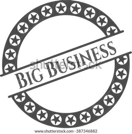 Big Business pencil strokes emblem