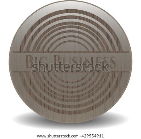 Big Business retro wooden emblem
