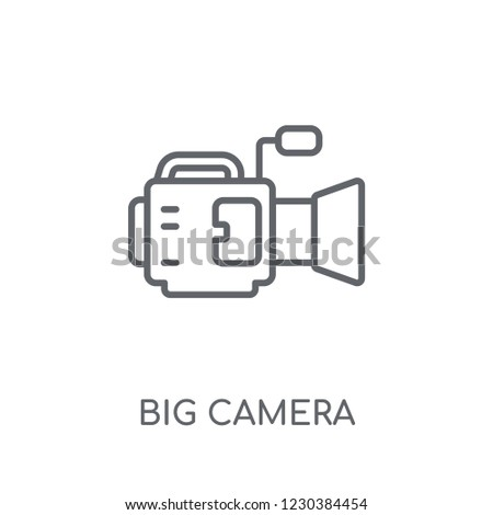 Big Camera linear icon. Modern outline Big Camera logo concept on white background from hardware collection. Suitable for use on web apps, mobile apps and print media.