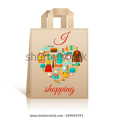 Shopping Bags Design Template Bag Design Template With