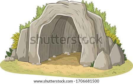 big cave opening empty cave