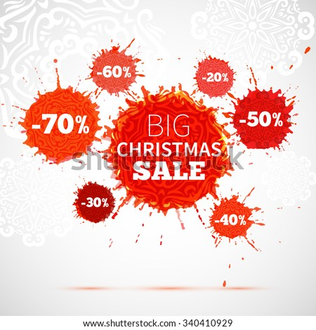 big christmas sale label  xmas