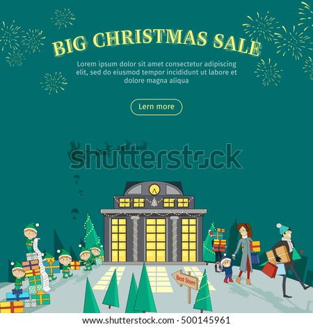 big christmas sale vector web