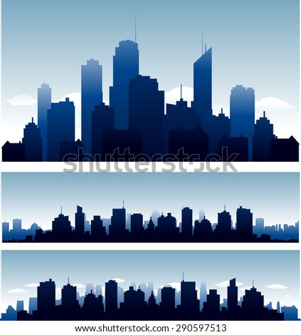 big cities skyline buidlings