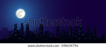big city and moon