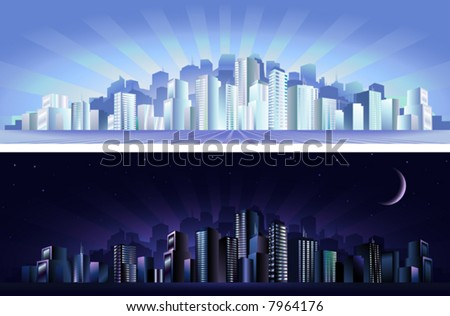 Big city - day & night (other landscapes are in my gallery)