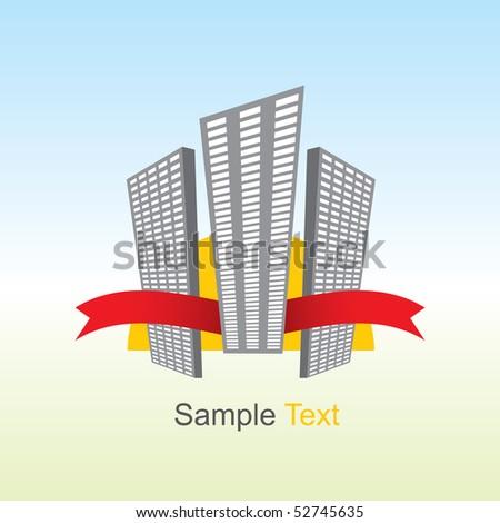 Big city house - stock vector