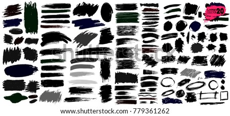 big collection of black paint