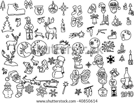 big collection of christmas vector silhouettes - more available