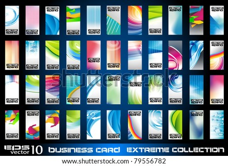 Big collection of corporate business cards background to use for distribuition flyers or poster. Big variety,shapes and colours.