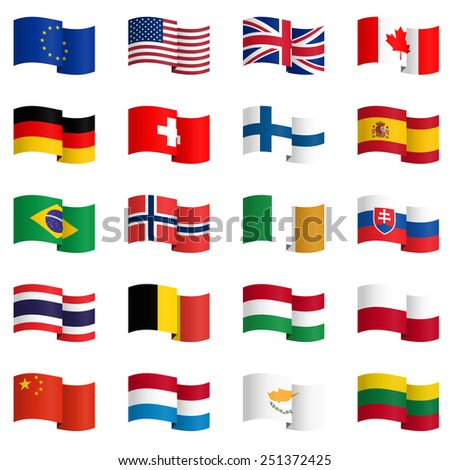big collection of country flags No.2 vector #251372425