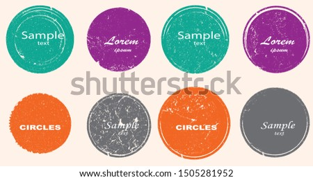 Big collection of Grunge post Stamps . Circles. Large set of Banners, Insignias , Logos, Icons, Labels and Badges  . vector distress textures.blank shapes.