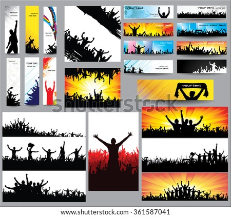 big collection of silhouettes