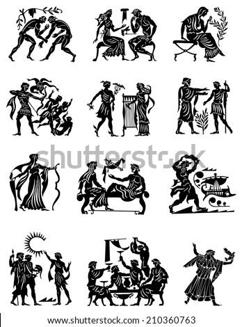 Old Vector Pack Of Ancient Greek Designs 123freevectors