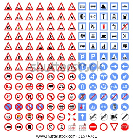 Big collection of Traffic signs #31574761