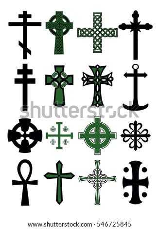 Big cross set. Cross collection.