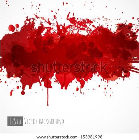 big dark red splash on white