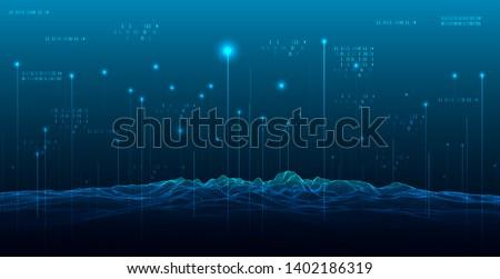 big data abstract digital
