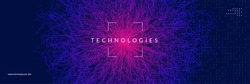 Big data abstract. Digital technology background. Artificial intelligence and deep learning concept. Tech visual for energy template. Futuristic big data abstract backdrop.