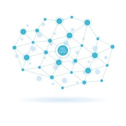 Big data abstract molecule illustration