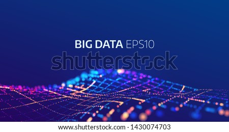 Big data abstract vector background. Bigdata visualization