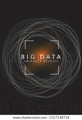 Big data background. Digital technology abstract concept. Artificial intelligence and deep learning. Tech visual for database template. Colorful big data background.
