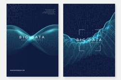 Big data background. Technology for visualization, artificial intelligence, deep learning and quantum computing. Design template for information concept. Colorful big data backdrop.