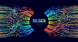 Big data classification vector background. Parsing analysis technology. Splash screen for courses