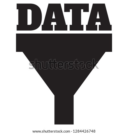 Big data collection process icon