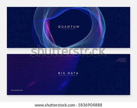 Big data concept. Digital technology abstract background. Artificial intelligence and deep learning. Tech visual for cloud template. Partical big data concept backdrop. Foto d'archivio ©
