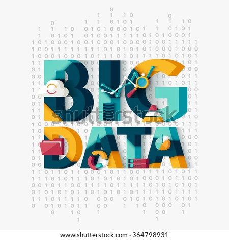 big data concept typographic