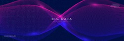 Big data learning. Digital technology abstract background. Artificial intelligence concept. Tech visual for database template. Cyber big data learning backdrop.